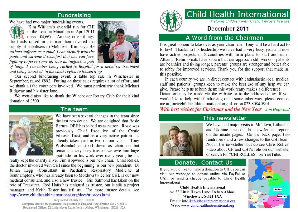 chi newsletters child health international